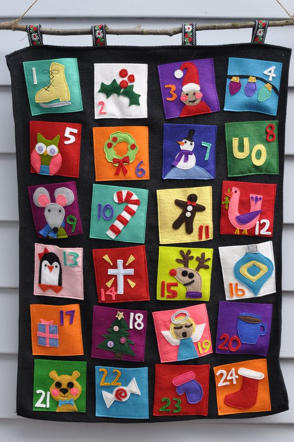 Advent Calendar Ideas Eyfs : Run lori felt advent calendar