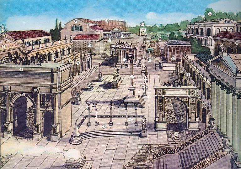 реконструкция улиц древнего рима фото первый альбом